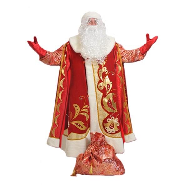 Маскарадный костюм Дед Мороз Хохлома