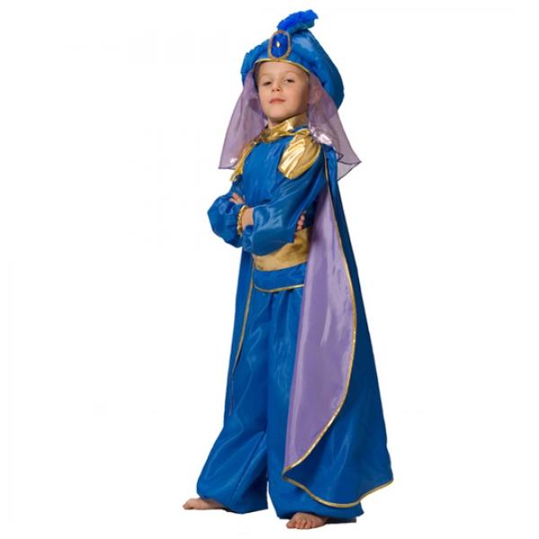 Маскарадный костюм Восточный принц (синий) арт. 101 013 130