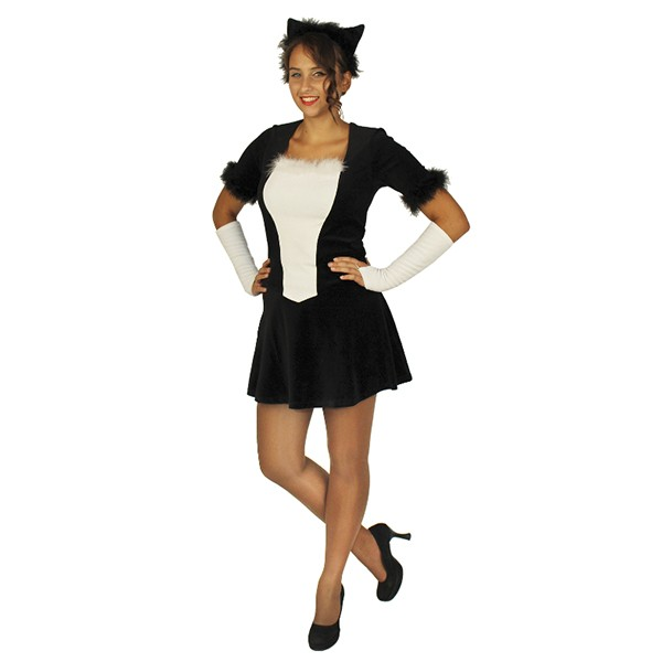 Карнавальный костюм Кошечка (черный цвет) арт. 103050164