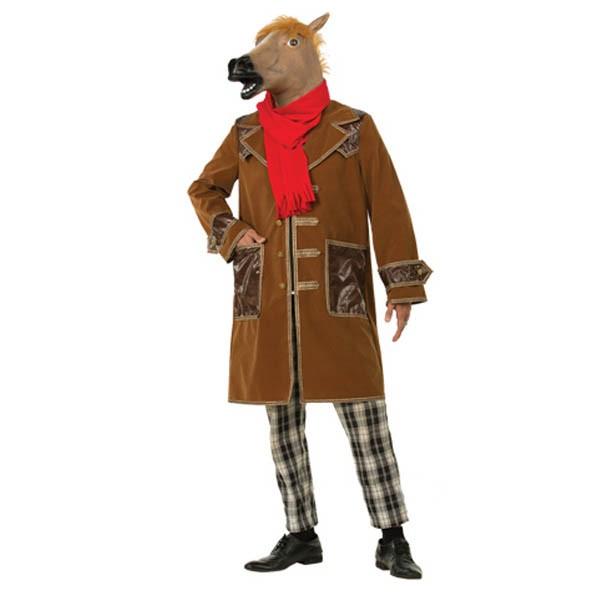 Костюм Конь в пальто коричневый