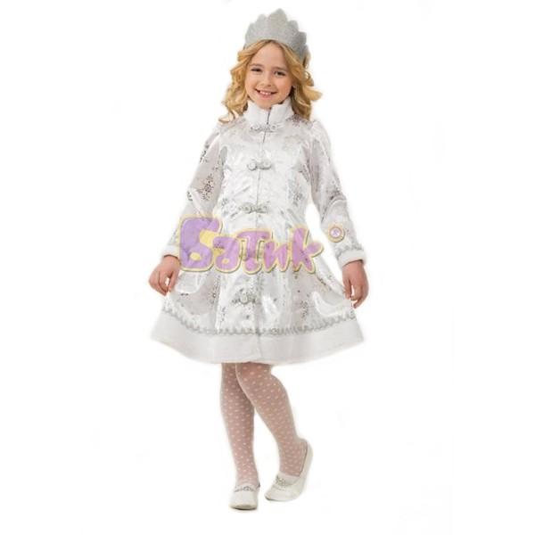Карнавальный костюм Снегурочка сатин 1205