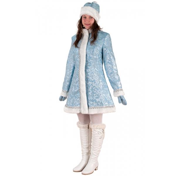 Снегурочка мини приталенная сантун голубой