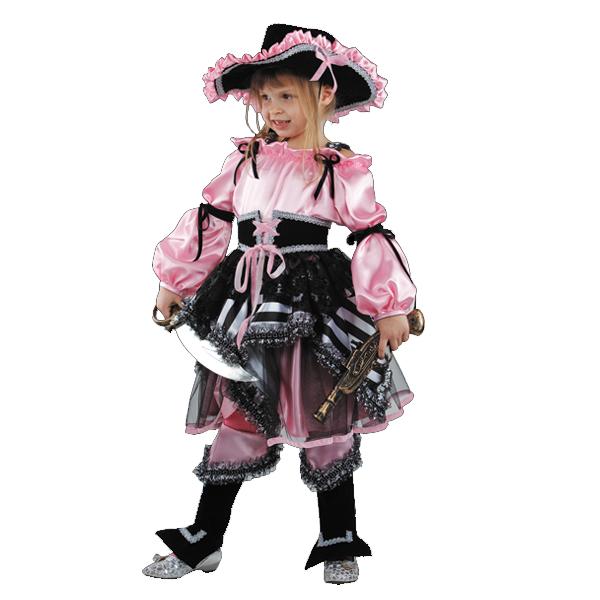 Карнавальный костюм Пиратка (розовая) арт 456