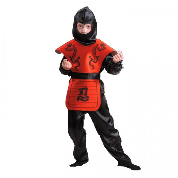 Карнавальный костюм Ниндзя красный арт 7028-2