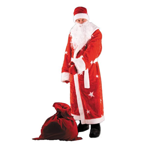 Карнавальный костюм Дед Мороз (мех, красный)