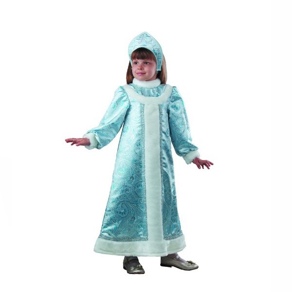Карнавальный костюм Снегурочка шелковая