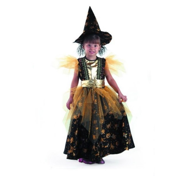 Карнавальный костюм Ведьма золотая