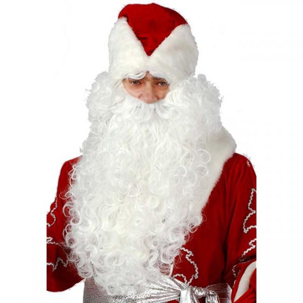 Комплект парик с бородой для Деда Мороза
