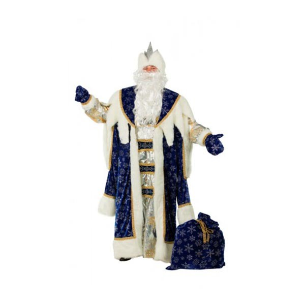 Костюм Деда Мороза королевский синий арт 189-1