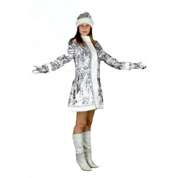 Снегурочка мини приталенная пан-бархат