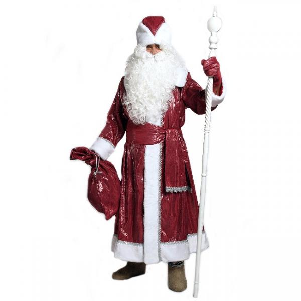 Костюм Деда Мороза Боярский (парча красная)