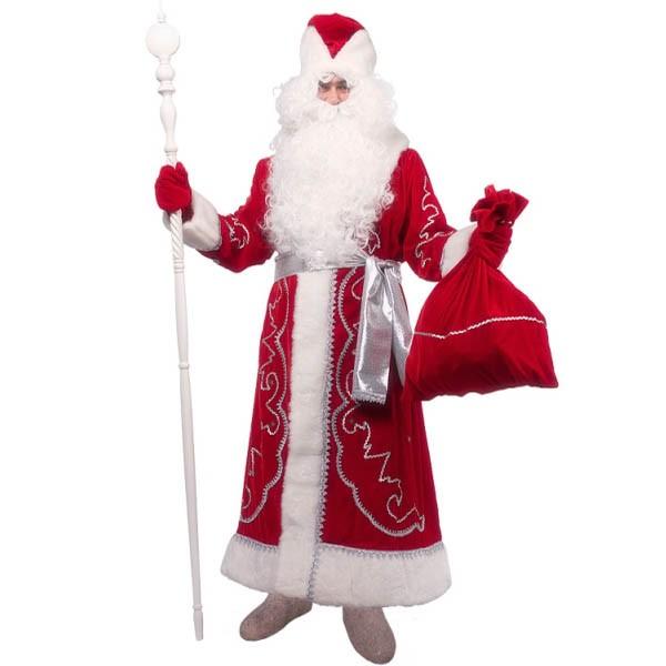 Костюм Дед Мороз Боярский v.1.2 (бархат с орнаментом)
