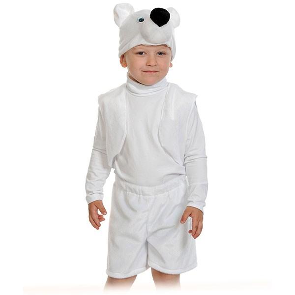 Карнавальный костюм Мишка белый k00-3009