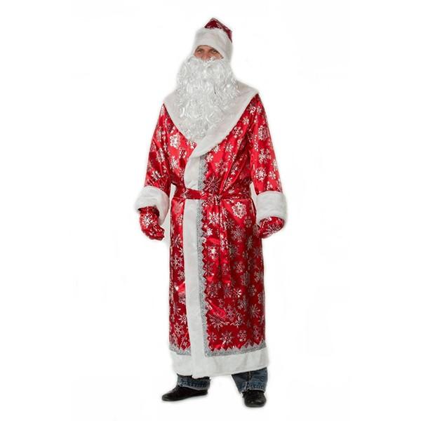 Костюм Дед Мороз сатин красный арт 188