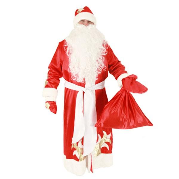 Маскарадный костюм Дед Мороз (красный цвет) арт. 104003176