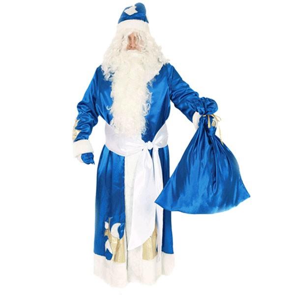 Маскарадный костюм Дед Мороз (синий цвет) арт. 104003177