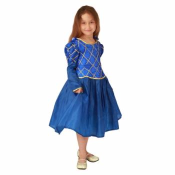 Маскарадный костюм Принцесса (синий цвет) арт. 102 009 123