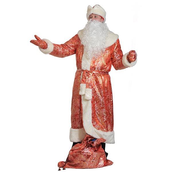 Костюм Дед Мороз парча-норка