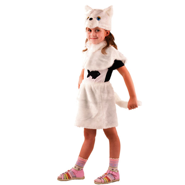 Кошка белая мех