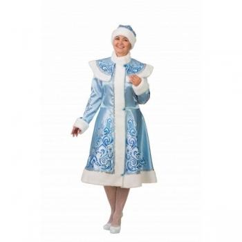 Снегурочка аппликация голубая сатин