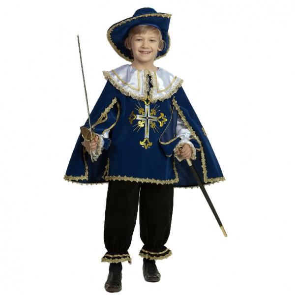 Карнавальный костюм Мушкетер синий