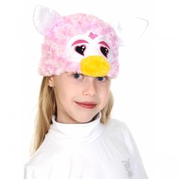 Шапочка Монстрик розовый сердечки К4087