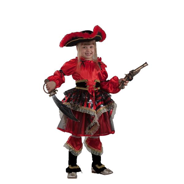 Карнавальный костюм Пиратка (красная) арт 455