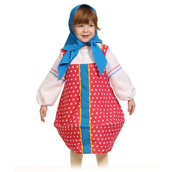 Карнавальный костюм Матрёшка малиновая k5100