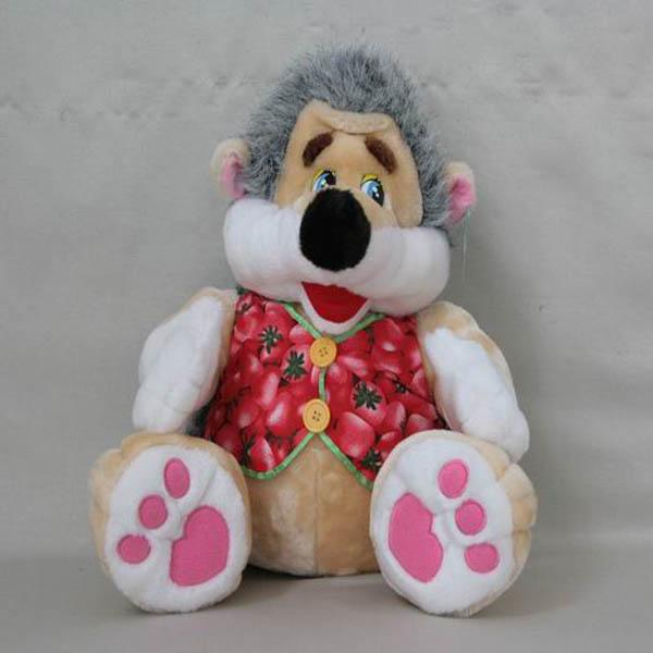 Мягкая игрушка Ежик в кофте мех арт. 95924