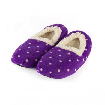 Тапочки грелки фиолетовые в горох