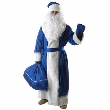 Дед Мороз синий (креп-сатин)