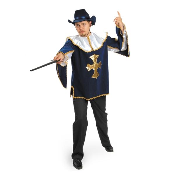 Карнавальный костюм Мушкетер бархат синий