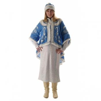 Костюм Снегурочка с платьем и бархатным вышитым пиджаком