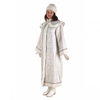 Снегурочка длинная с пелериной сантун белый