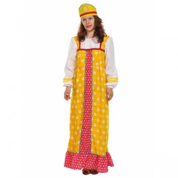 Костюм Алёнушка в жёлтом k1074