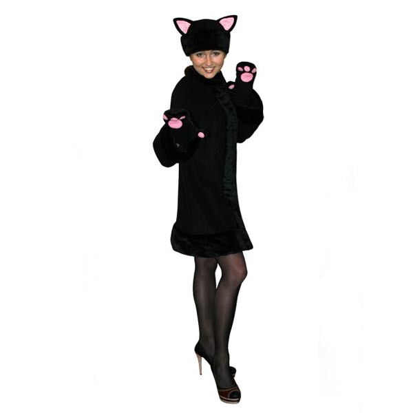Карнавальный костюм Черная кошка арт KKVd-2chs