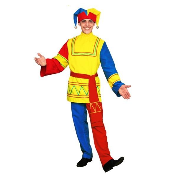 Карнавальный костюм Скоморох арт KKVm-1-28g-k-yag