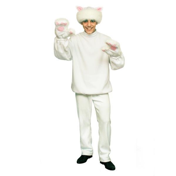 Карнавальный костюм Белый кот арт KKVm-2b