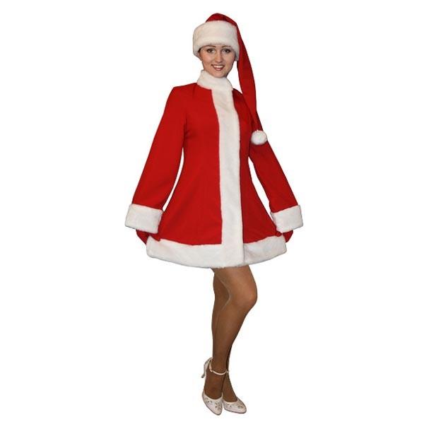 Карнавальный костюм Снегурочки красный мини арт MKm-3k