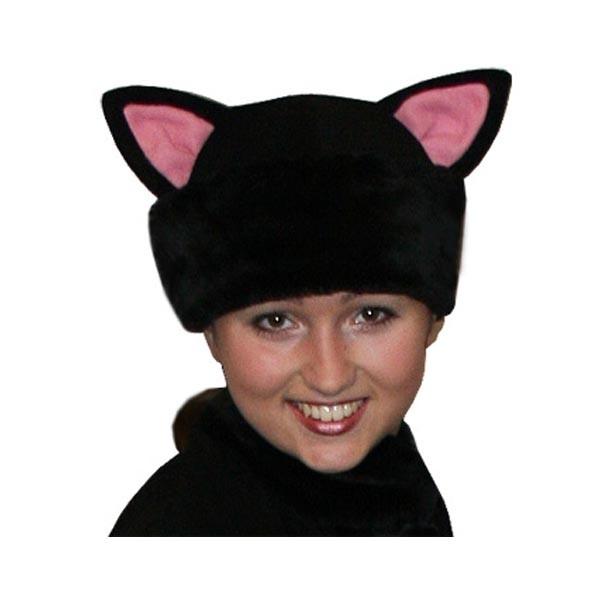 Карнавальная шапка Черная кошка арт SHV-2ch